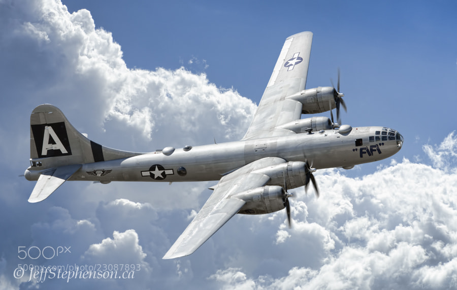 """Photograph """"Fifi"""" B-29 Superfortress by Jeff Stephenson on 500px"""
