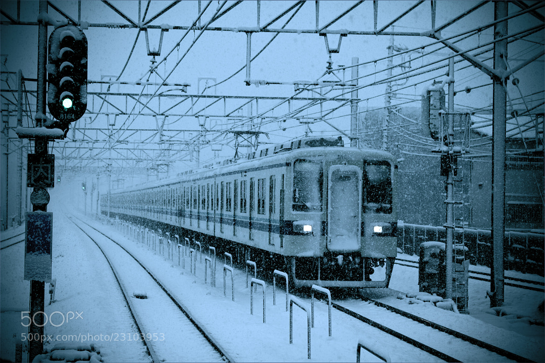 Photograph Train in snowfall by SANDEEP DHUNGANA on 500px