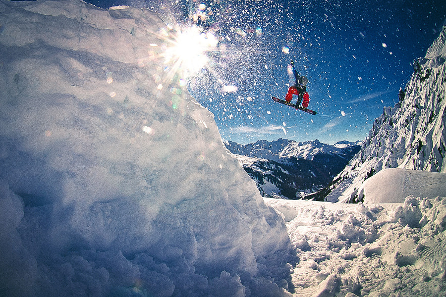 Photograph backcountry snowboarding in Austria by Kirill Umrikhin on 500px