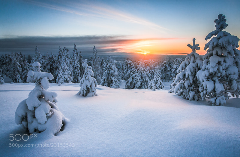 Photograph Sunset in Lapland by Iiro  Rautiainen on 500px