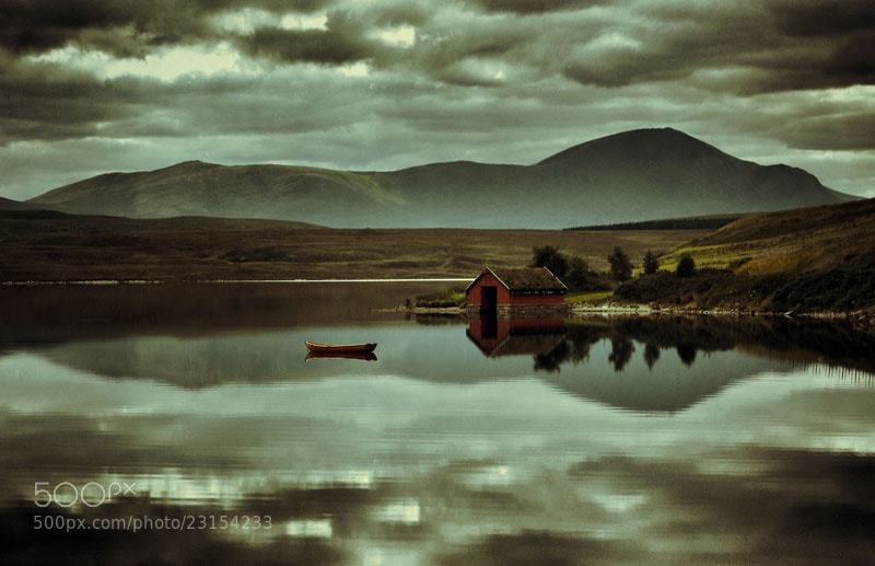 Photograph Loch Loyal Boatshed, Sutherland, Scottish Highlands by Heather Leslie Ross on 500px