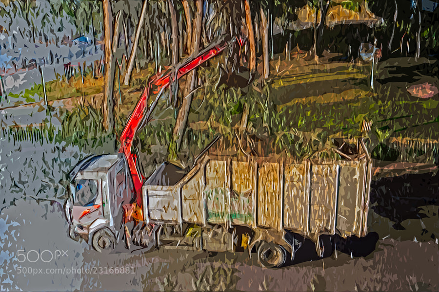 Photograph Painterly truck by Lev Tsimbler on 500px