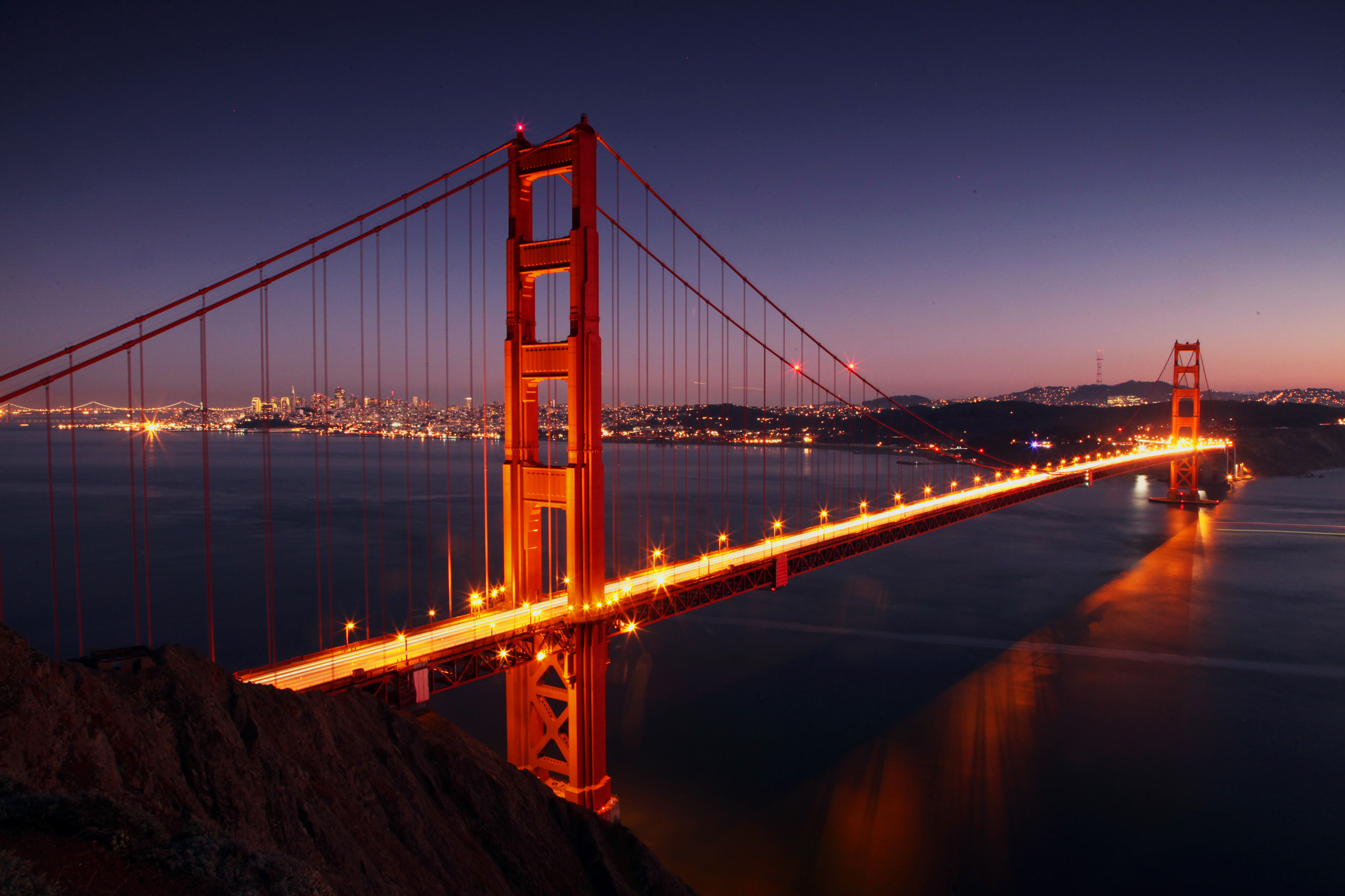 Photograph Golden Gate Glow at Dusk by Pongky Nataatmaja on 500px