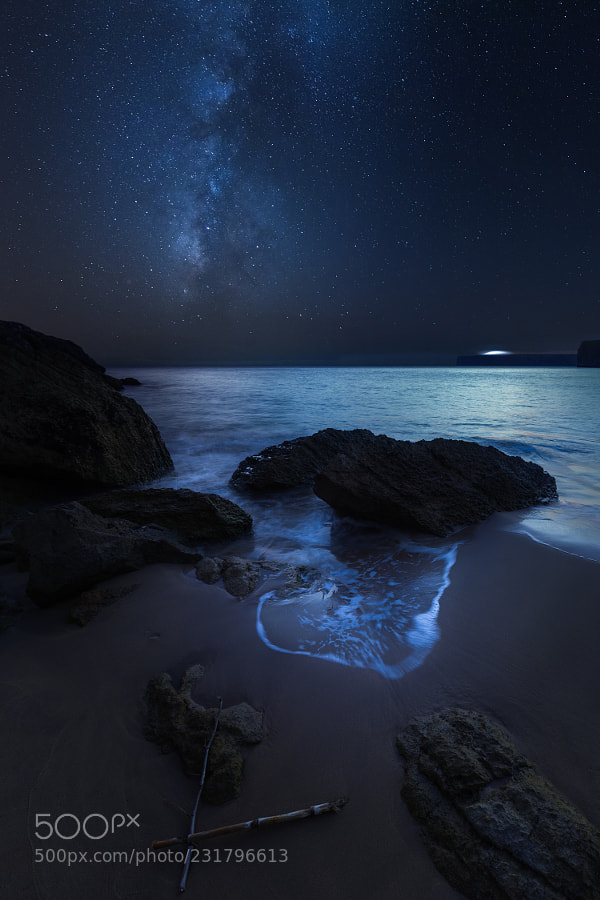 Milky way above Praia do Beliche