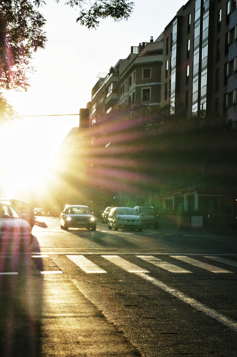 Photograph Morning Sun Glare at Madrid Streets by Rafael Guerrero on 500px