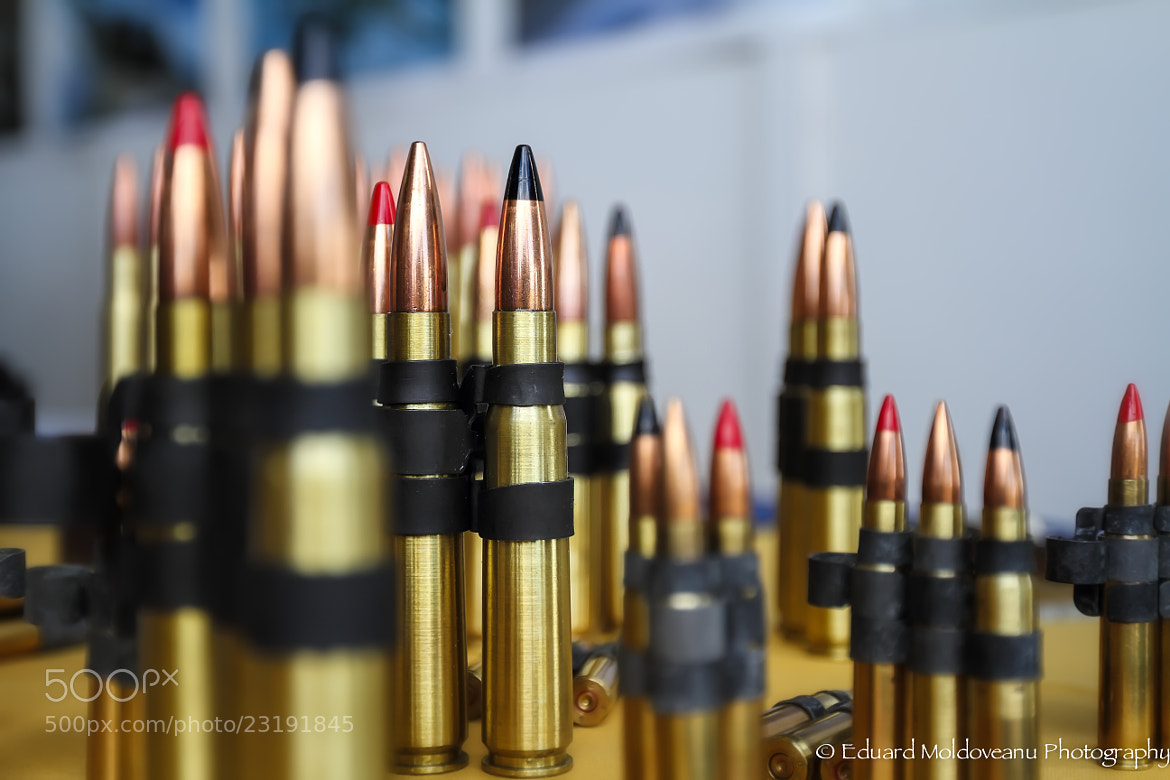 Photograph Black and Red tipped bullets by Eduard Moldoveanu on 500px