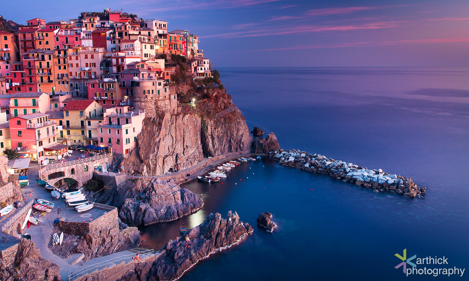 Photograph The Divine Sunset @ Manarola by Karthick Ramachandran on 500px