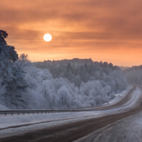Frost road by Mindaugas Ma (minmac)) on 500px.com