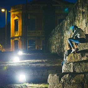 #salamanca #puenteromano #noche #luz #personas #nightlife #night #romanbridge #people #piedras...
