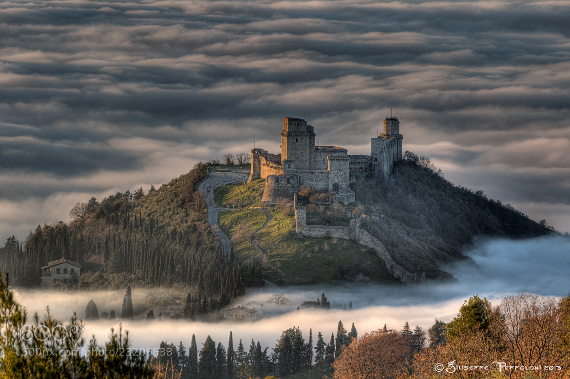 Photograph Assisi (PG) - Rocca Maggiore by Giuseppe  Peppoloni on 500px