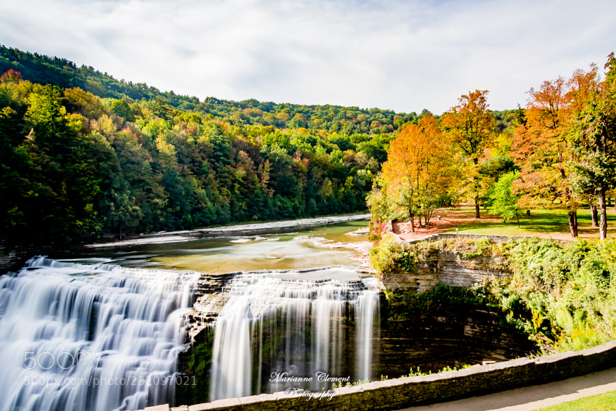 Autumn at Letchworth State Park Middle Falls