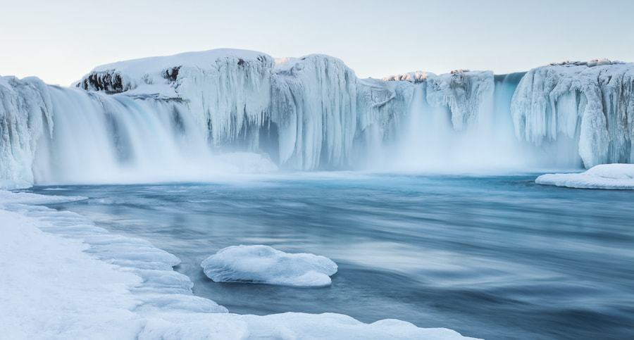 Photograph Goðafoss in winter by John Q on 500px