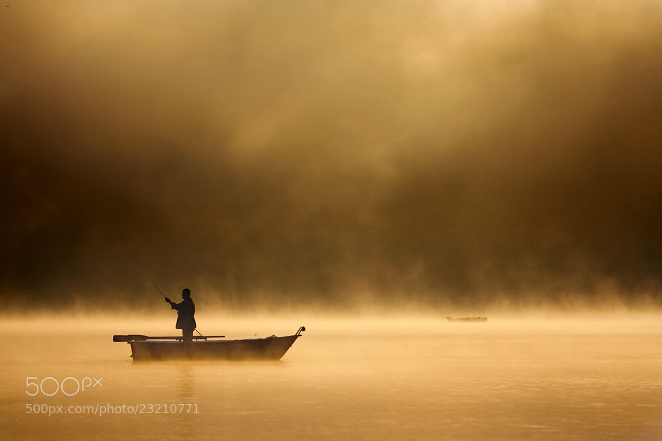 Photograph Fishing in haze by Marcin Sobas on 500px