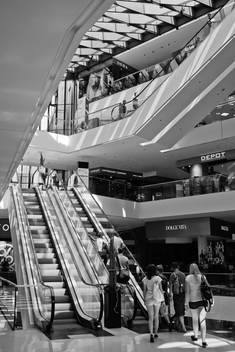 Photograph Kaufhaus Tyrol Escalators II (B&W Version) by Felix L. Esser on 500px