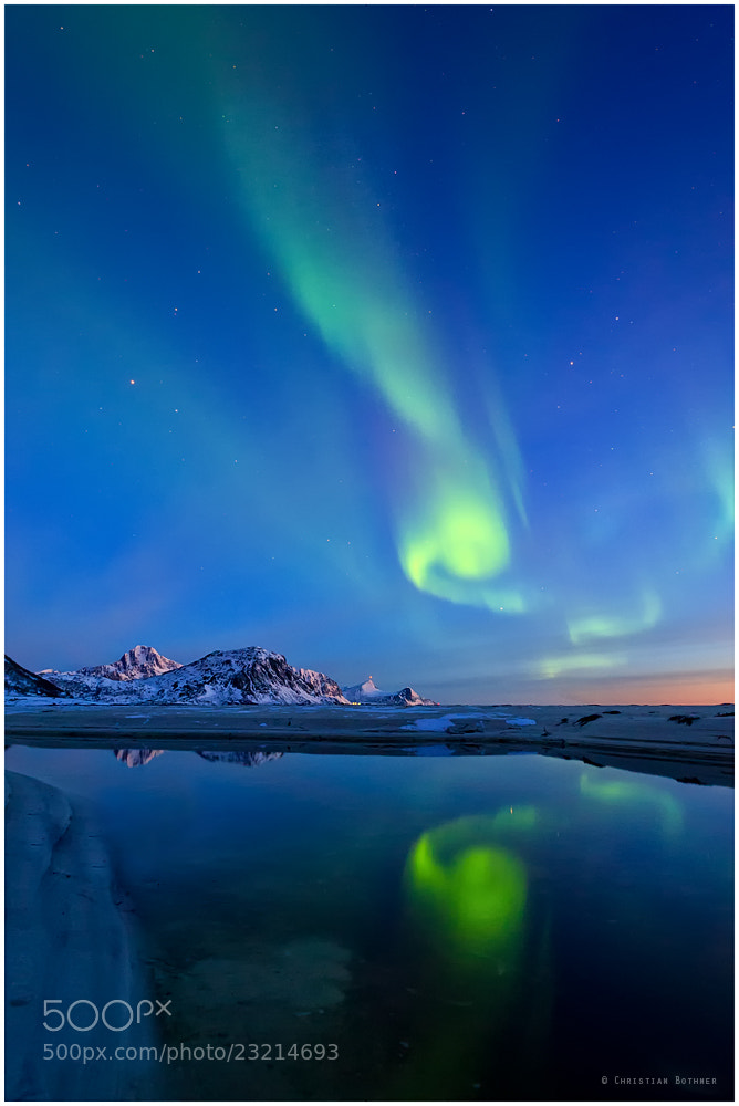 Photograph The Northern Lights | Lofoten | Norway  by Christian Bothner on 500px