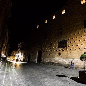 #salamanca #igerssalamanca #clerecia #casadelasconchas #mañana #noche #personas #calle...