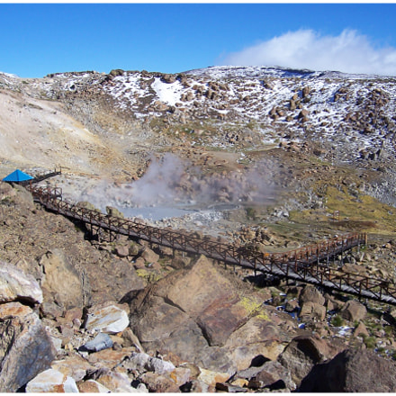 Vapor Geotermico en Copahue