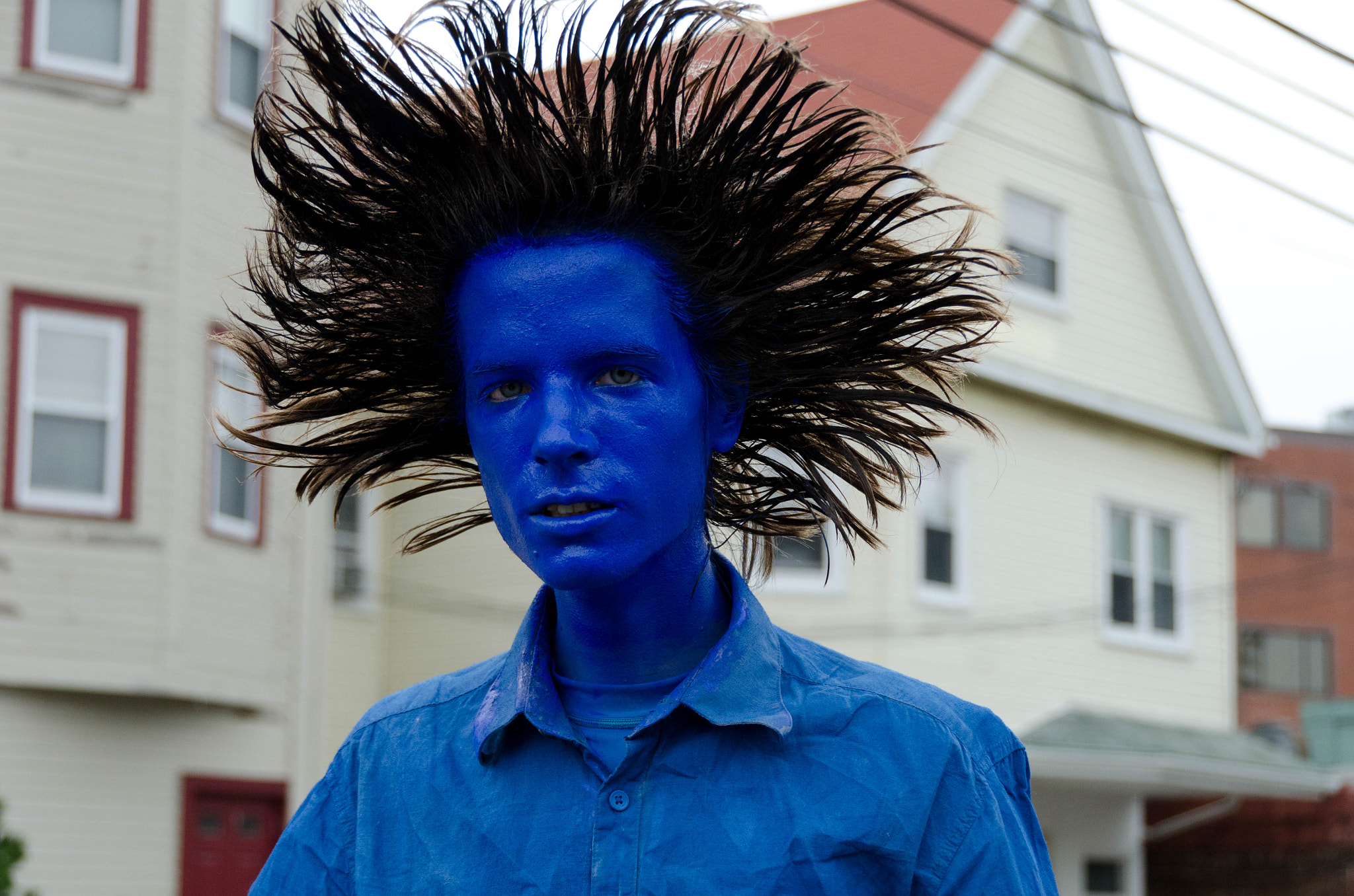 Photograph Blue Man by Colin McMillen on 500px