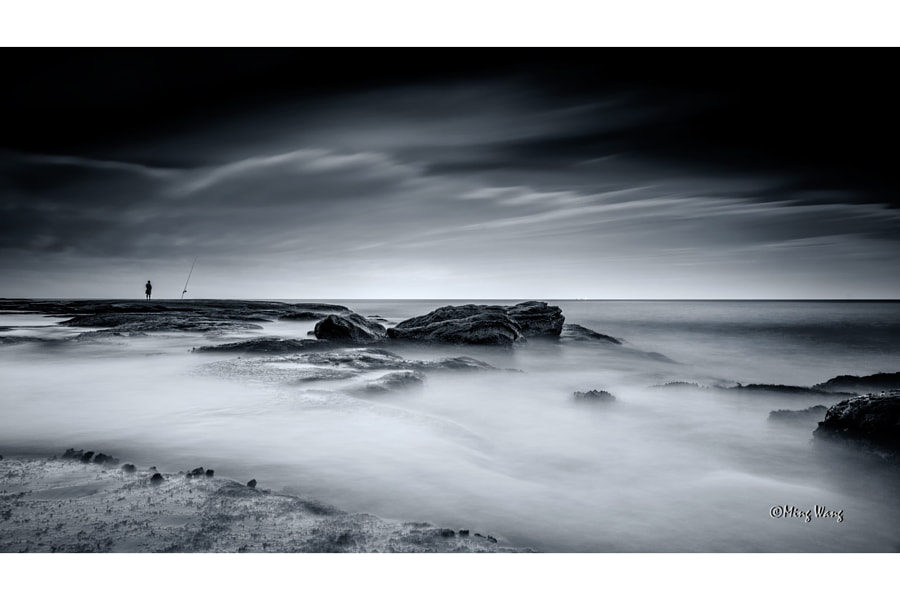 MWP Black and White - Seascape (76) by Ming Wang on 500px.com