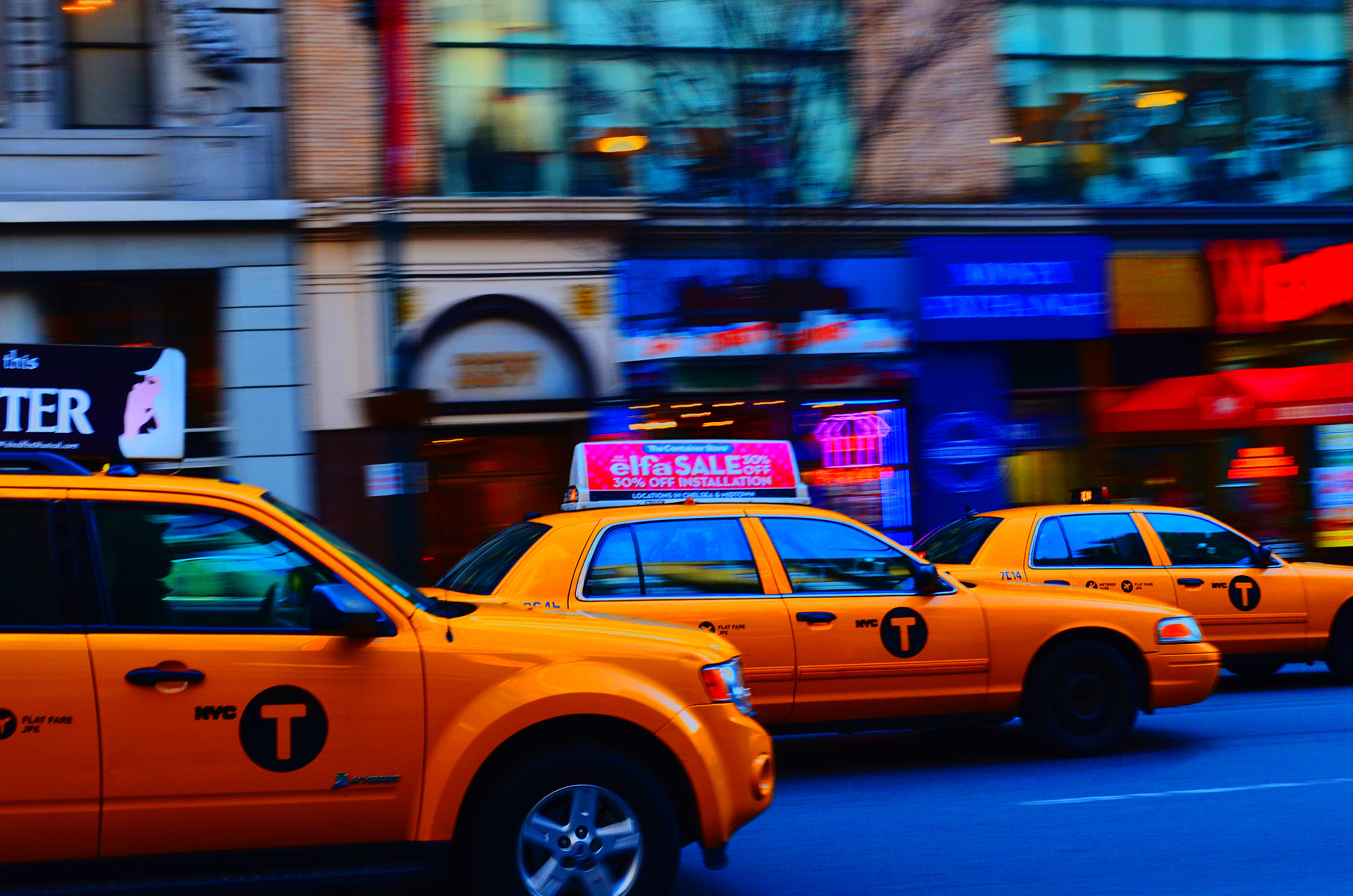 Photograph NY Cabs by chris Gura on 500px