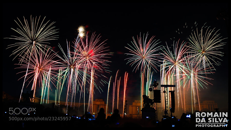 Photograph  Disco fireworks for Bastille Day in Paris by Romain Da Silva on 500px