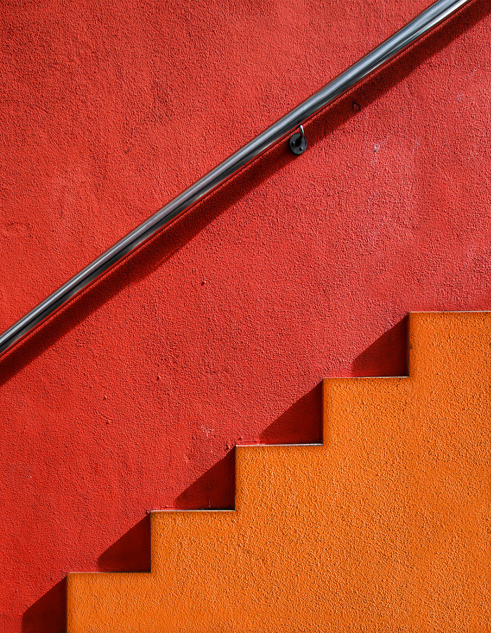 Orange Stairs by Alfon No ? on 500px.com
