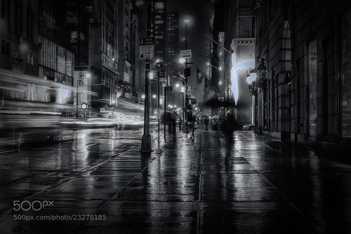 Photograph Midnight Walk in NYC by Marc Perrella on 500px