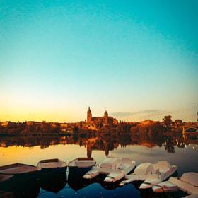 #salamanca #catedral #rio #riotormes #barcas #atardecer #cielo #turismo #viaje #explorar #ciudad...