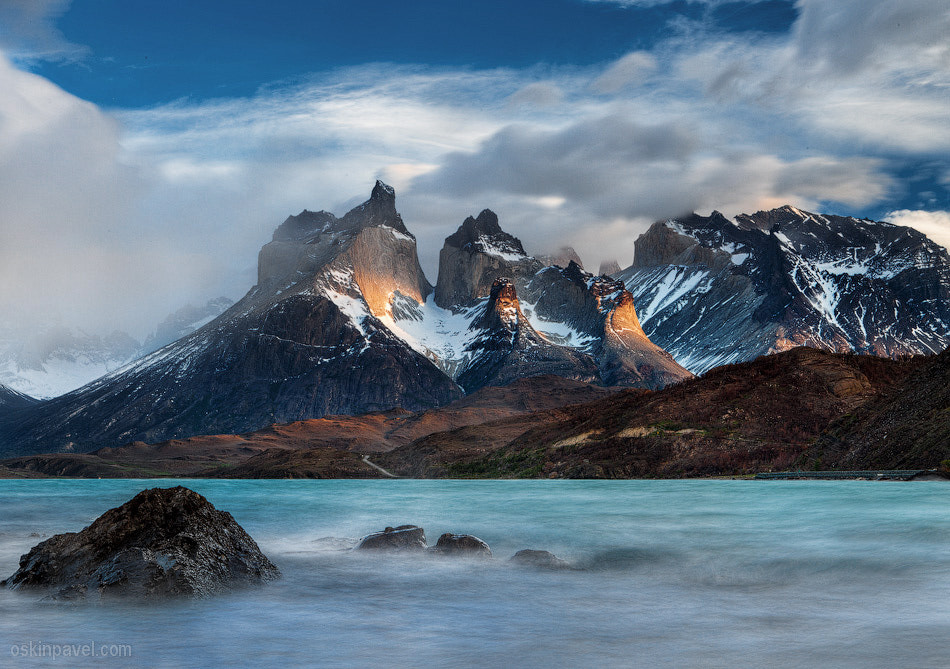 Photograph Los Cuernos sunrise by Pavel Oskin on 500px