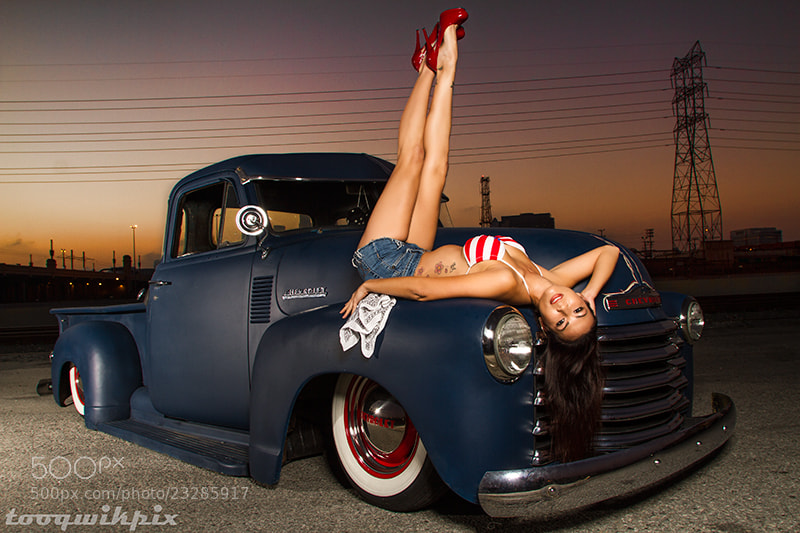 Photograph naomi with 52 chevy truck by Tooqwikpix on 500px