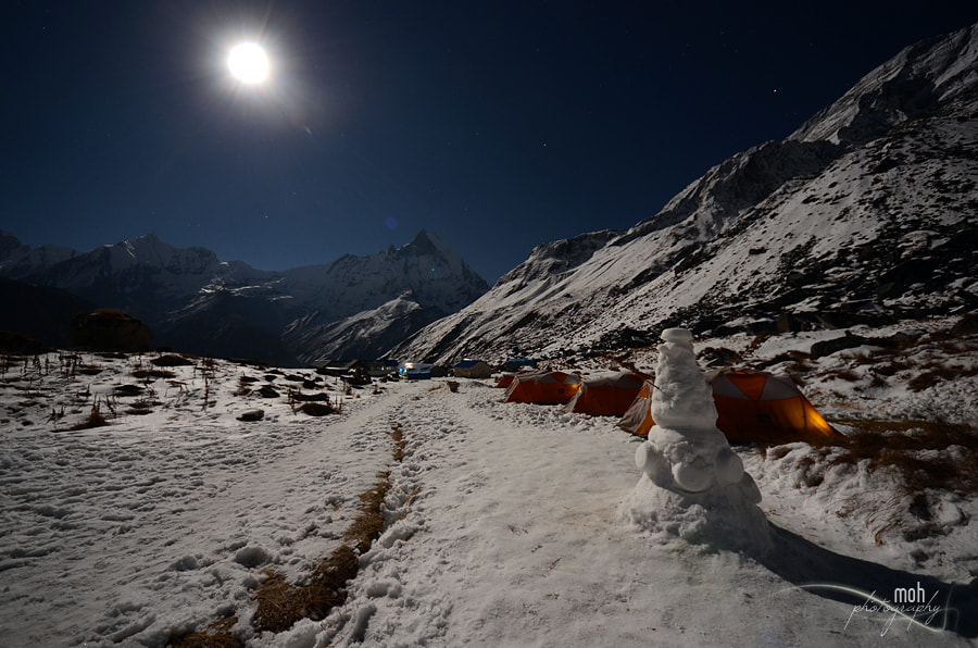 Photograph Full moon at Base camp by Mohan Duwal on 500px