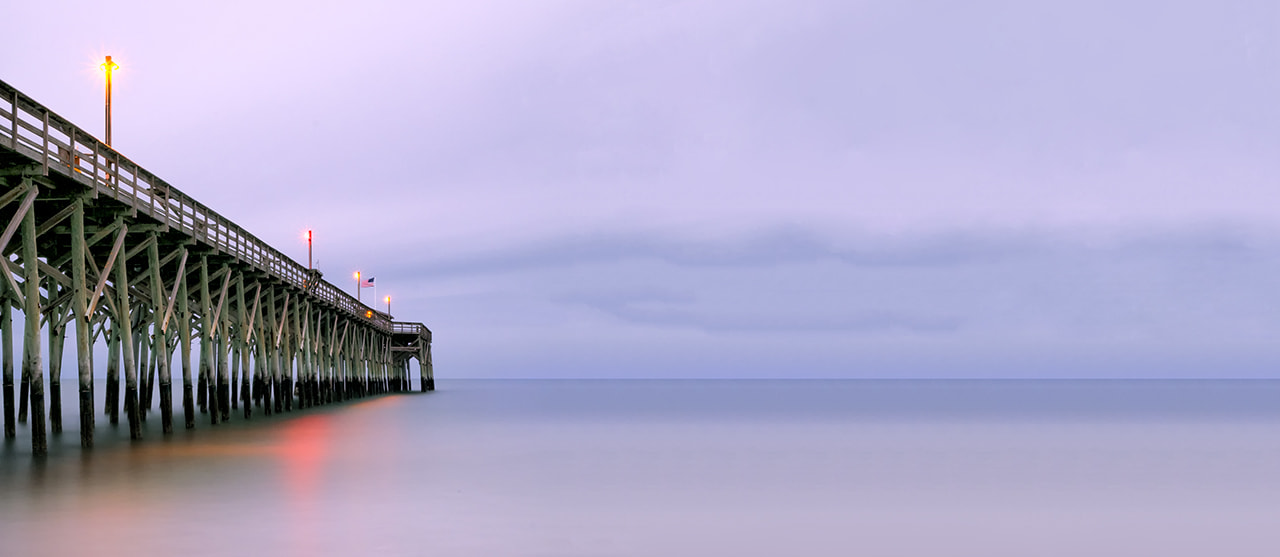 Photograph 480 sec exposure, Pawleys Pier Pano by James Hilliard on 500px