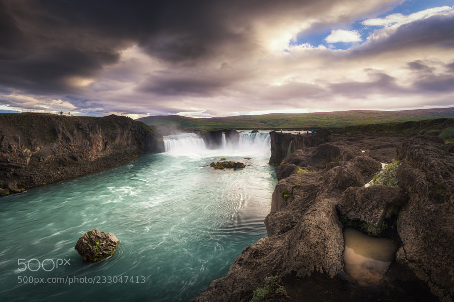 Goðafoss in evening light
