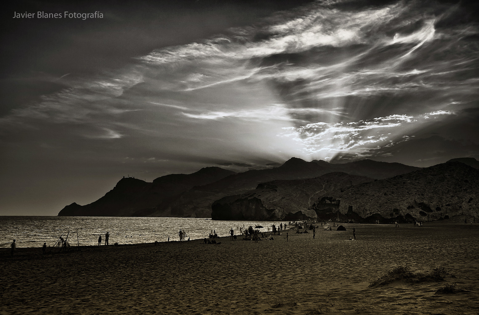 Photograph Beach lights by Javier Blanes on 500px