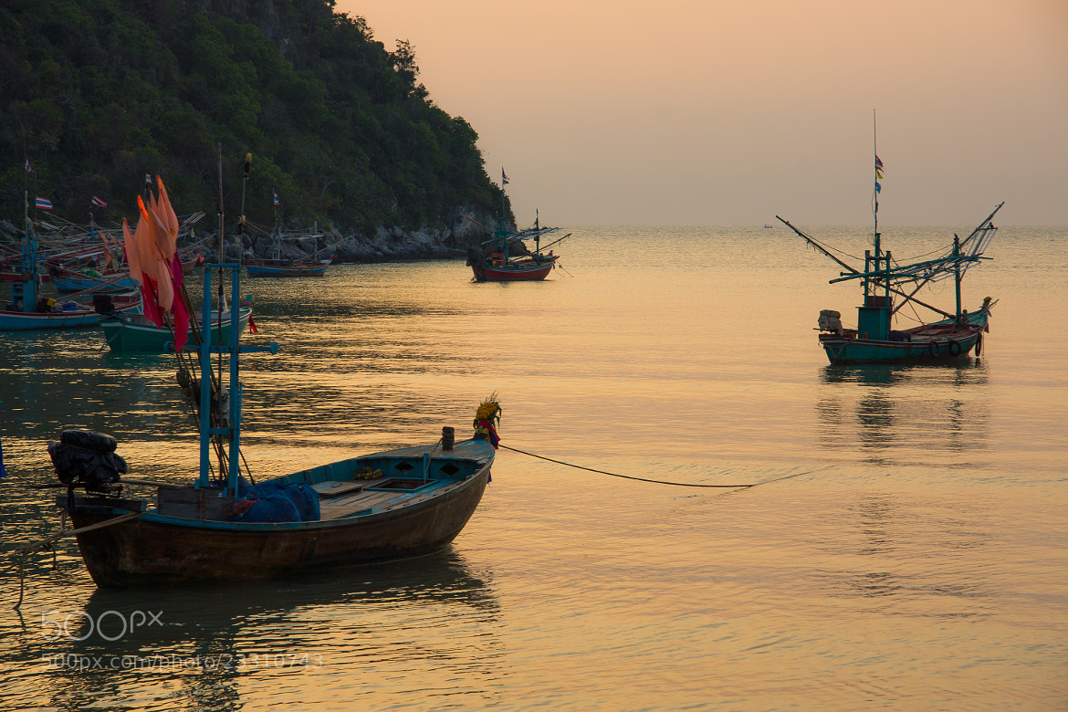 Photograph Sunrise Boats by Adrian Armirail on 500px