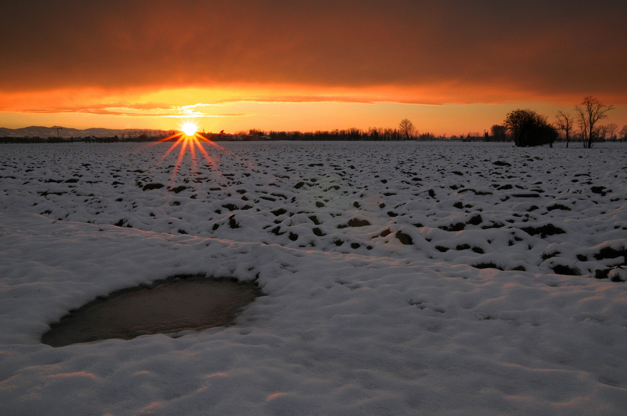 Photograph Winter Sunset by Federico Mazzola on 500px
