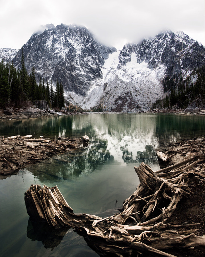 foggy colchuck lake. dragontail peak. enchantments. washington. by Tanner Wendell Stewart on 500px.com