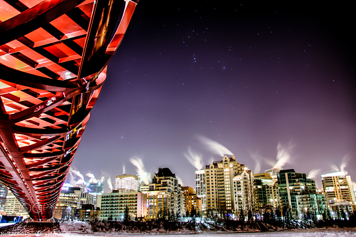 Photograph Starry Peace Bridge, Calgary by Neil Zeller on 500px
