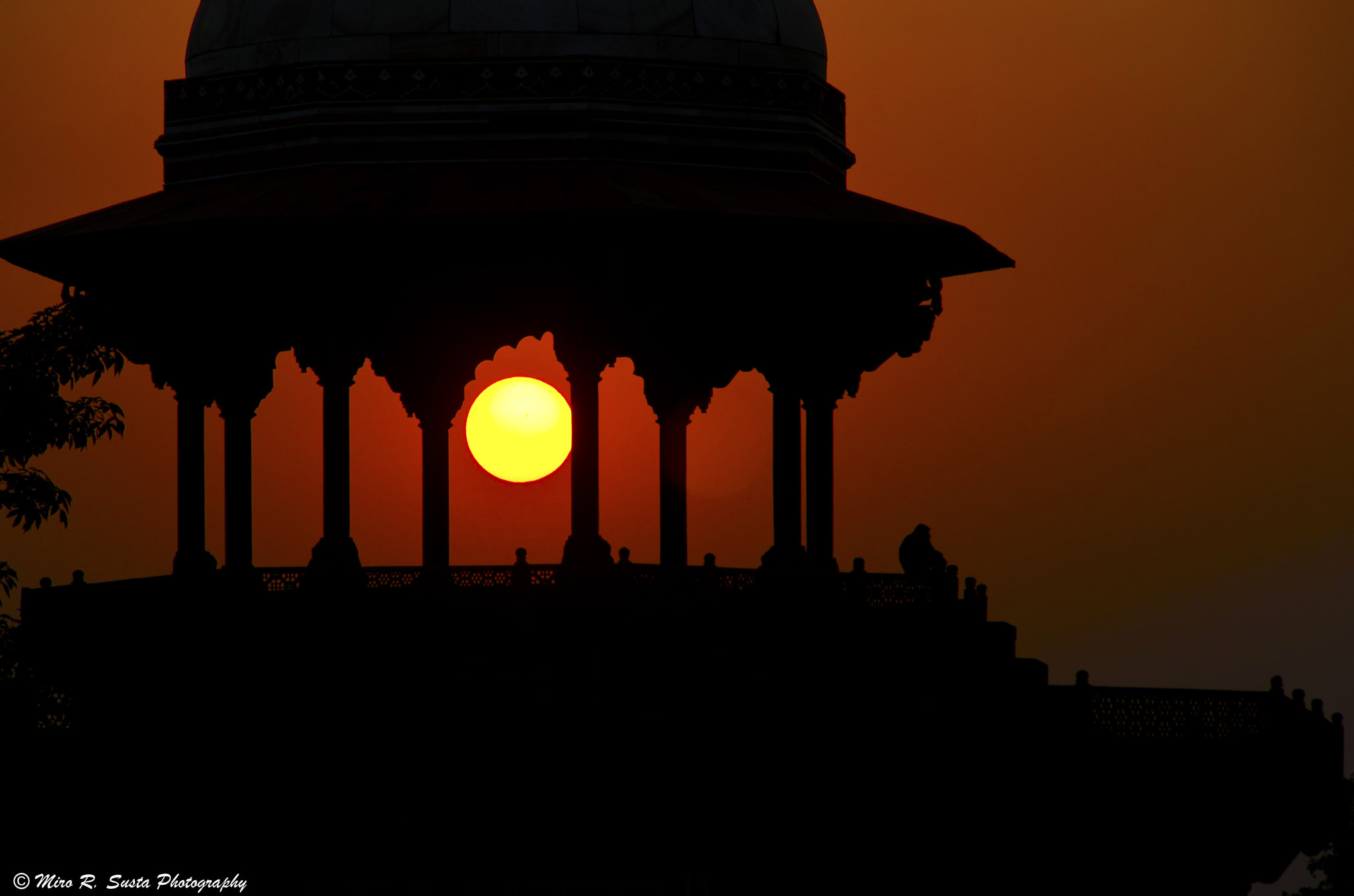Photograph Sunset over Taj Mahal Mosque by Miro Susta Photography on 500px