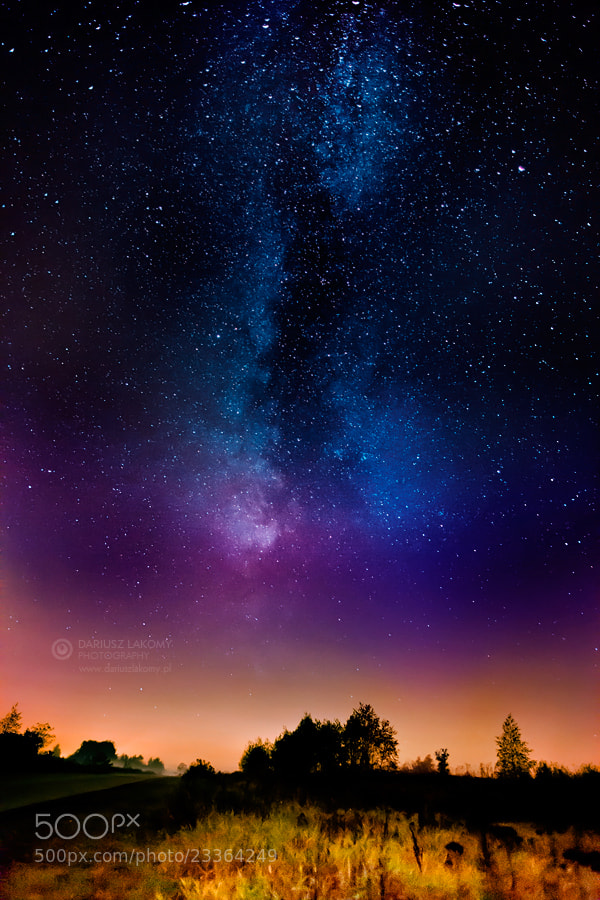 Photograph Starry night by Dariusz Lakomy on 500px