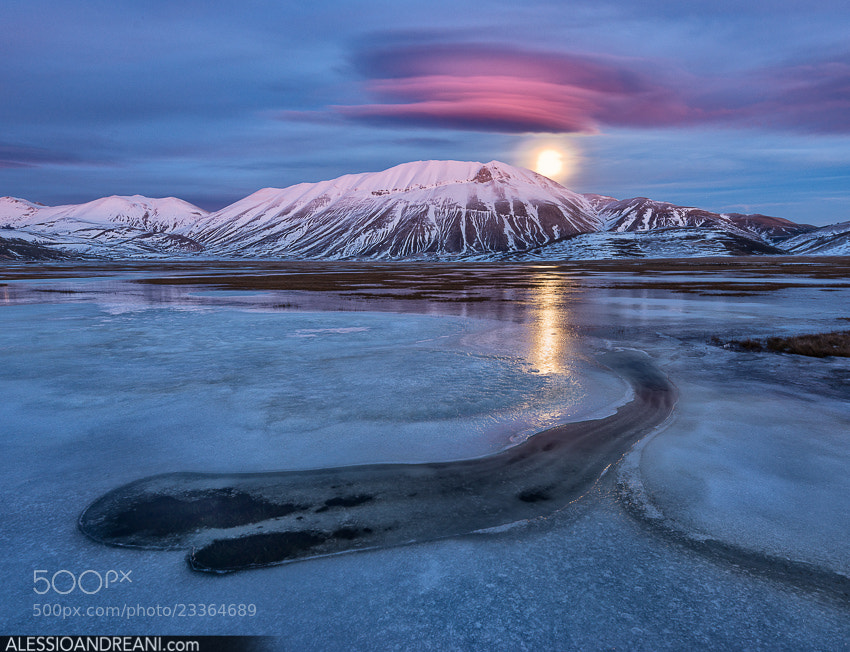 Photograph Pink Moonrise by Alessio Andreani on 500px