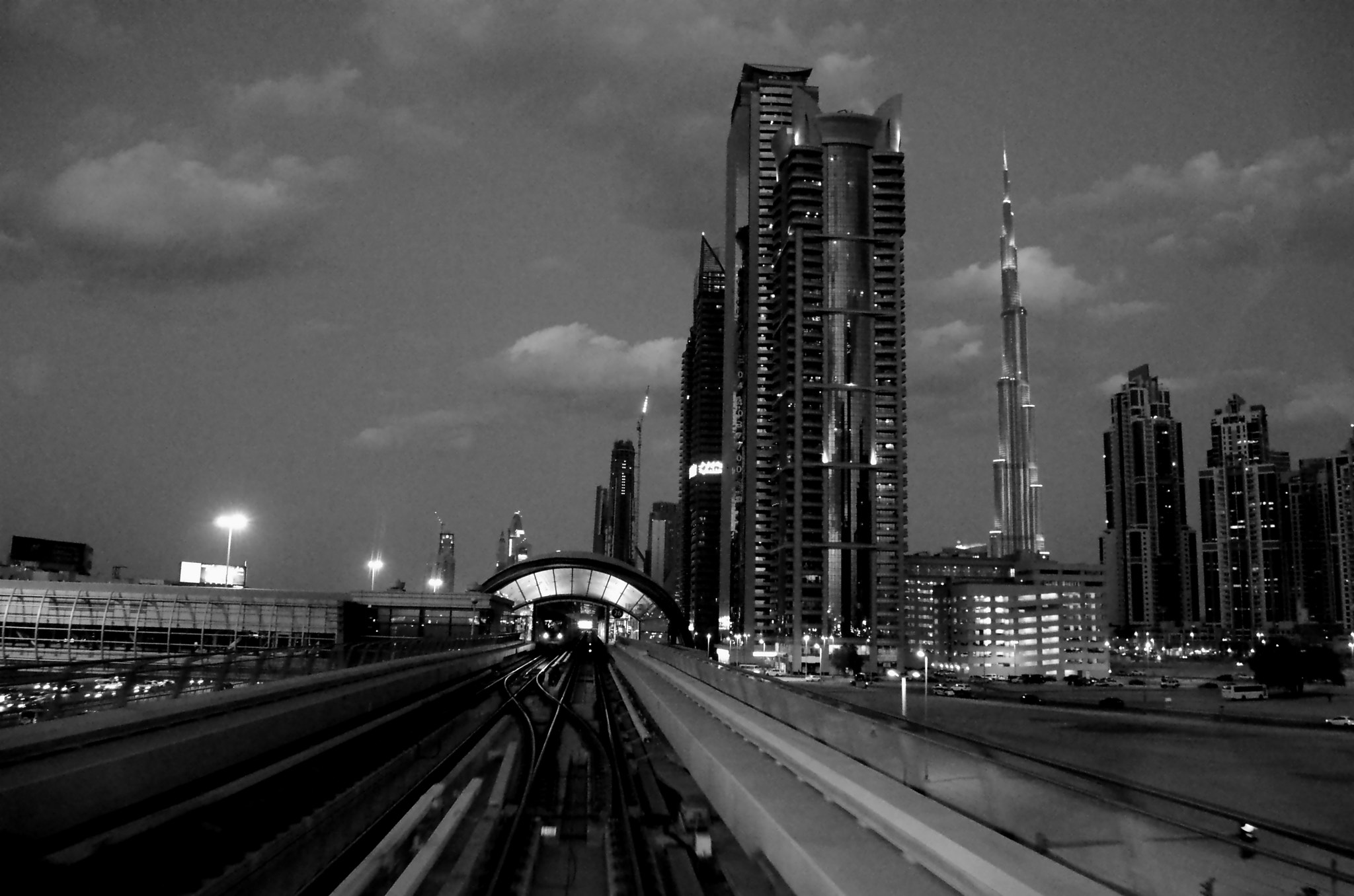 Photograph View of Burj Khalifa from Metro by Shishir Agrawal on 500px