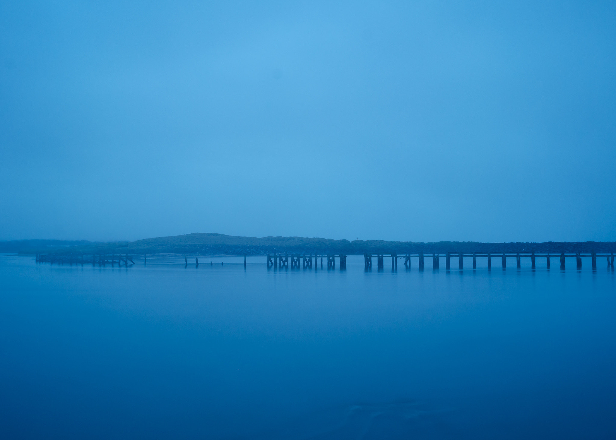 Photograph Blue Hour at the Pier by Tom  O'Leary on 500px