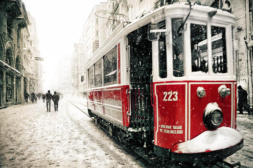 Photograph Beyoglu Tram by Ludmila Yilmaz on 500px