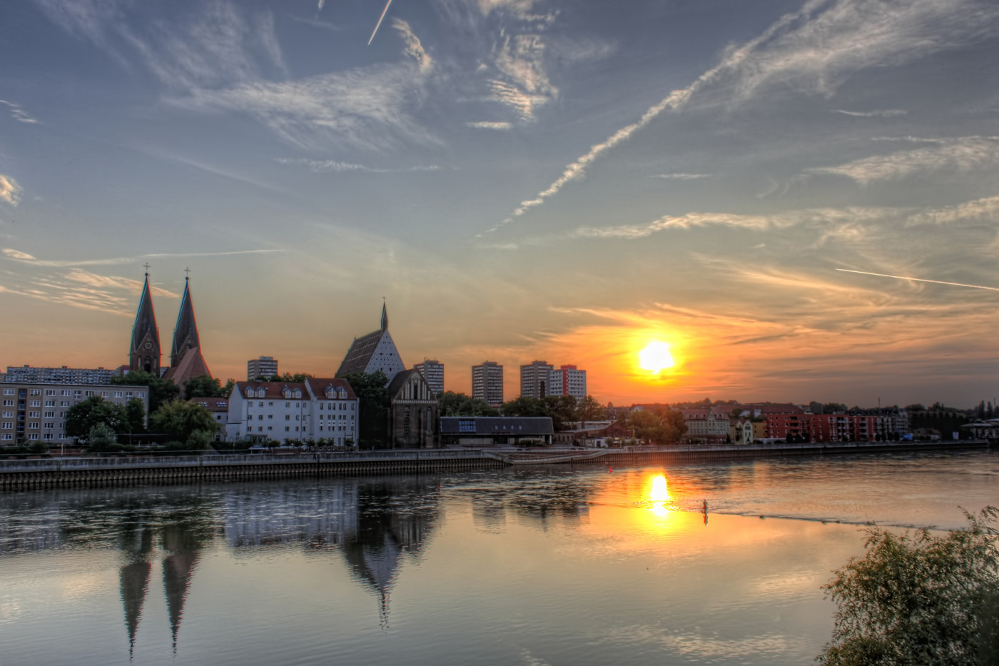 Photograph Sunset in Frankfurt (Oder) by Nico Trinkhaus on 500px