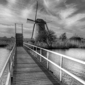 Mono kinderdijk by Patrick Strik (PatrickStrik)) on 500px.com