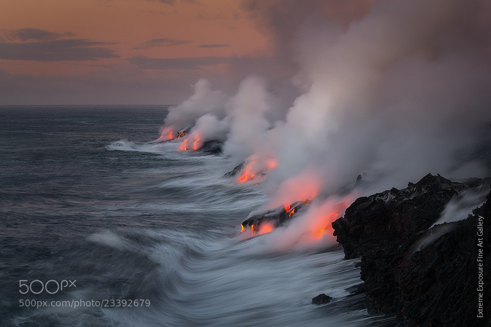 Photograph Morning Lava Entry by Tom Kualii on 500px