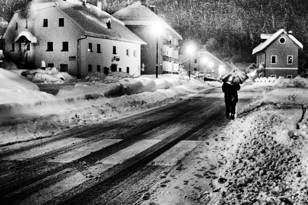 Photograph winter street by Domen  Dolenc on 500px