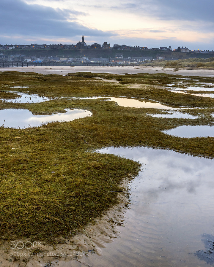 Shot just before dawn from the river Lossie estuary at Lossiemouth in Moray Scotland.