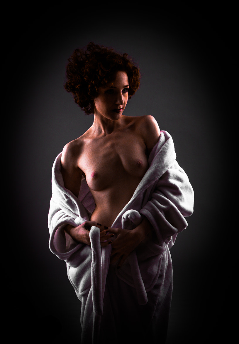 Photograph woman in a white bathrobe by Axel Lauer on 500px